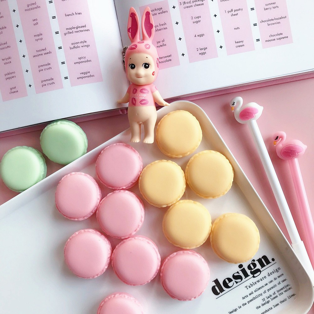 Cute Macaron Shape Mini Pill Case, Colorful Storage Container for Candy, Jewelry, Pills (5 pcs) 13