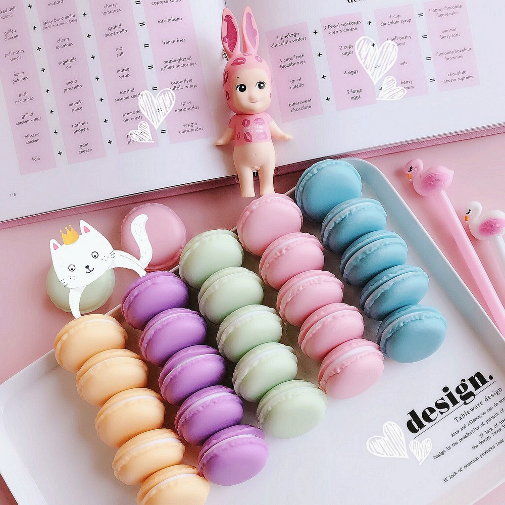 Cute Macaron Shape Mini Pill Case, Colorful Storage Container for Candy, Jewelry, Pills (5 pcs) 14