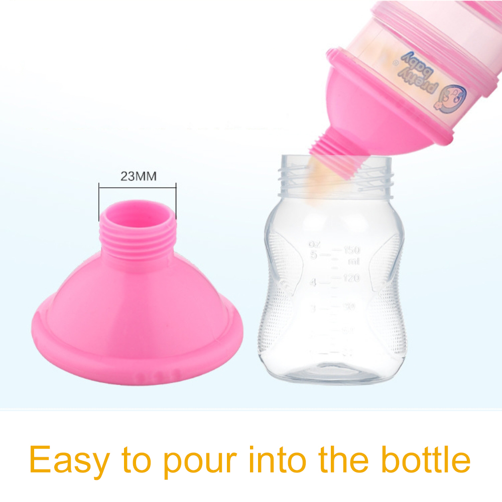 Non-spill Baby Feeding milk Powder Dispenser, Babies BPA Free Travel Storage Container with Stackable 4 Layers 5