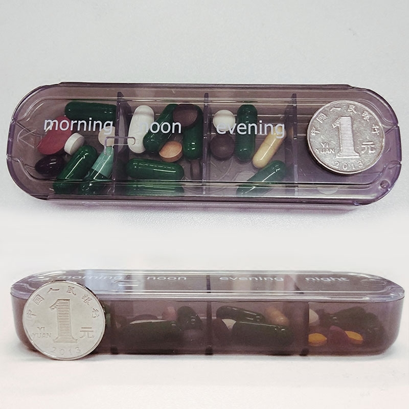 Prescription and Medication Reminder Pill Box for 4 Times A Day