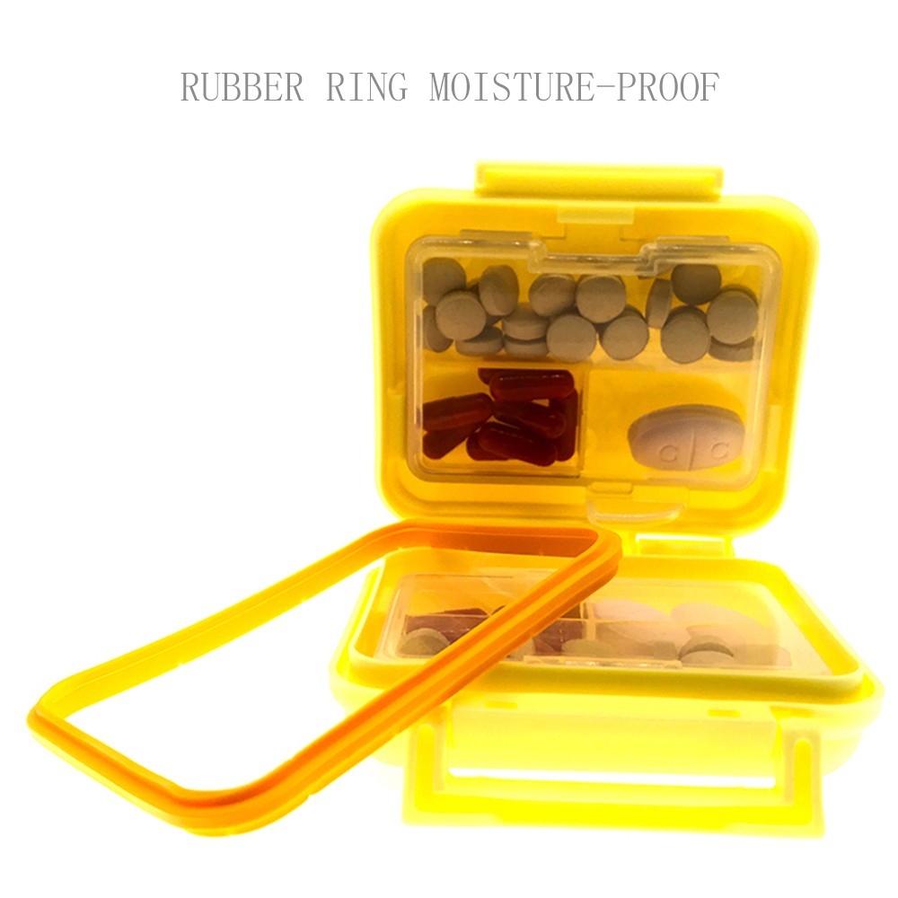 Pill Organizer-Weekly Pill Box With 6 Compartments, Waterproof Plastic Pill Organizer for Daily or Travel Use (yellow) 8