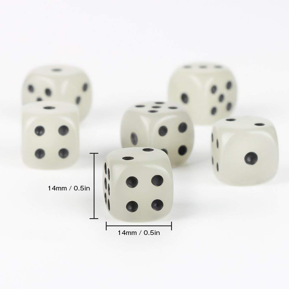 Quality PU Leather Dice Cup Set with 6 Dot Dices Glowing In The Dark, Classic Dice-rolling Game - 4 Pack 4
