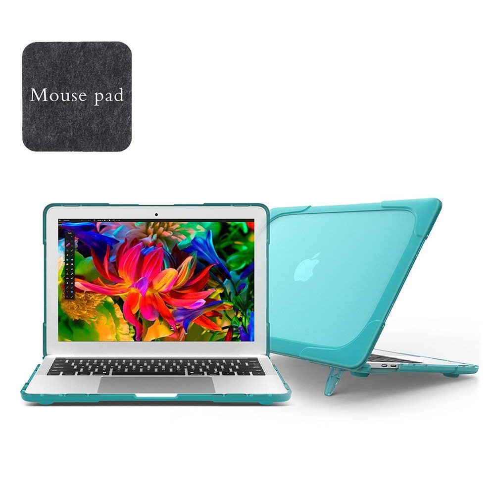 Macbook Air 13 Case, Heavy Duty Dual Layer Hard Case Cover for Model A1706/ A1708/ A1989 with TPU+PC Bumper 7