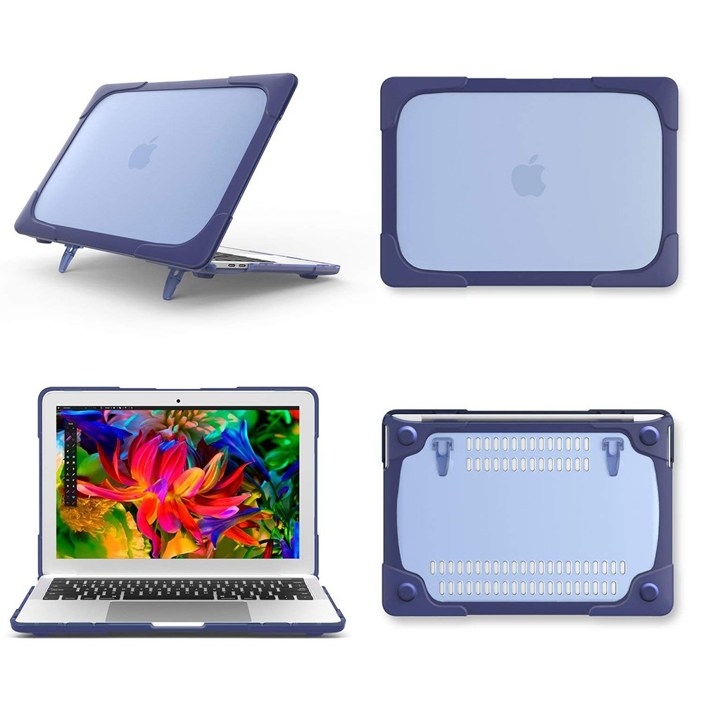 Macbook Air 13 Case, Heavy Duty Dual Layer Hard Case Cover for Model A1706/ A1708/ A1989 with TPU+PC Bumper 12