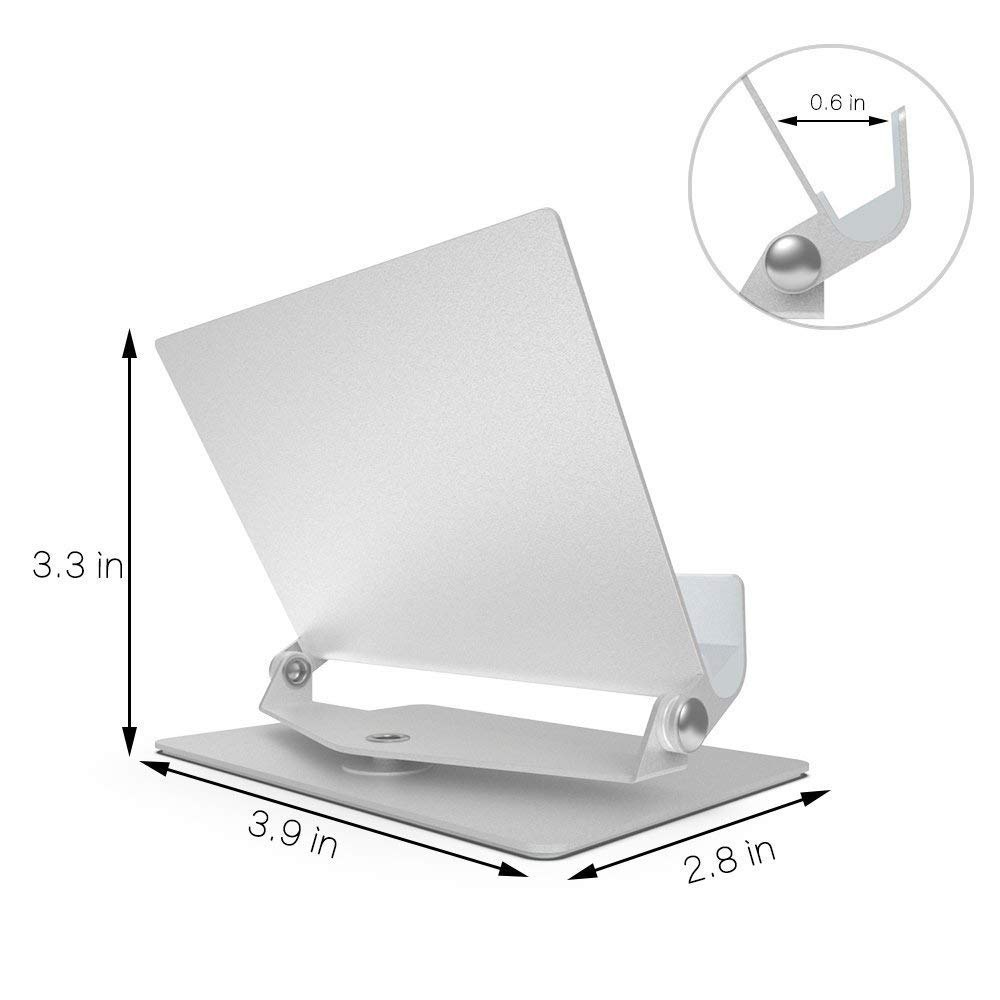 Multi-Angle Aluminum Holder stand, 360 Rotation Fold-up Stand Holder for 3.5-13 inch Tablets, E-readers and Smartphones 4