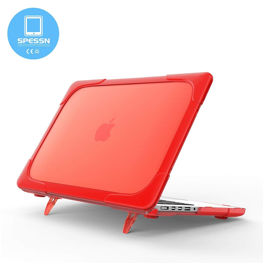 Macbook Pro 15 Case, Shockproof Hard Shell Protective Cove Case with Foldable Stand & vent slots for Macbook Pro Retina 15 (A1398 ) 2