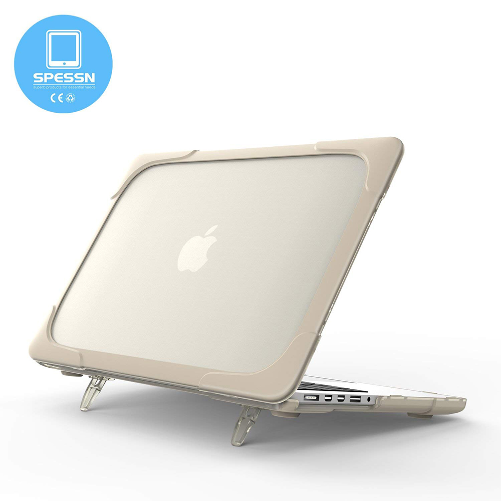 Macbook Pro 15 Case, Shockproof Hard Shell Protective Cove Case with Foldable Stand & vent slots for Macbook Pro Retina 15 (A1398 ) 4