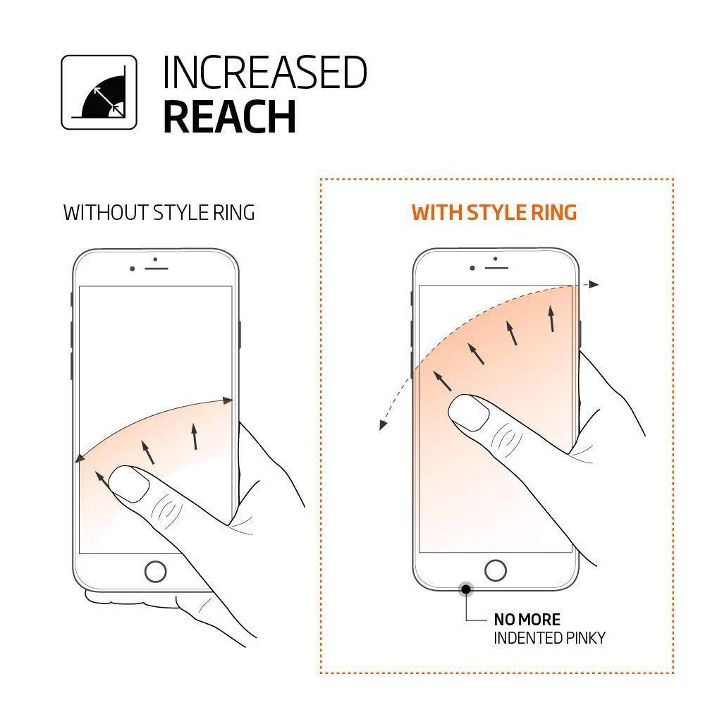 360° Rotation Phone Finger Ring Hook Grip Holder and Car Mount Base for iPhone, Smartphones, Tablets 4