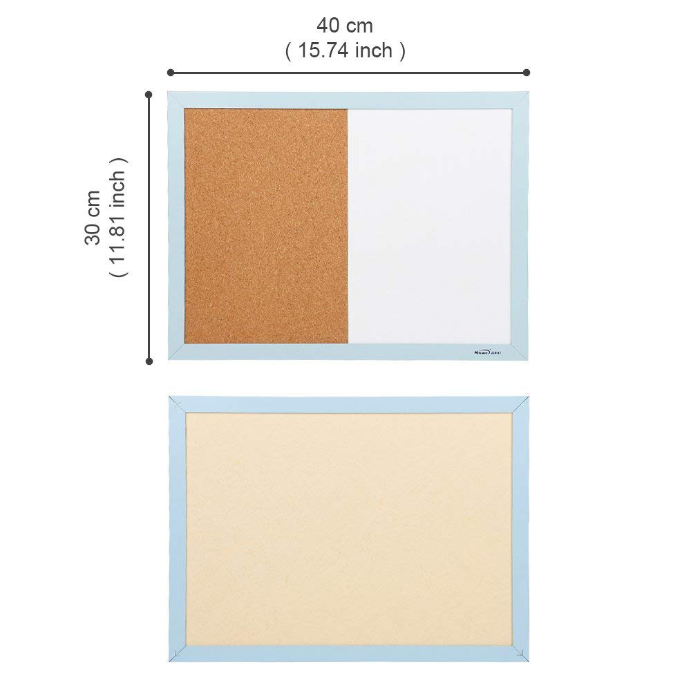 Combination Magnetic Whiteboard & Corkboard, Dry Erase Board & Cork Bulletin Board Combination for Home Office school 3