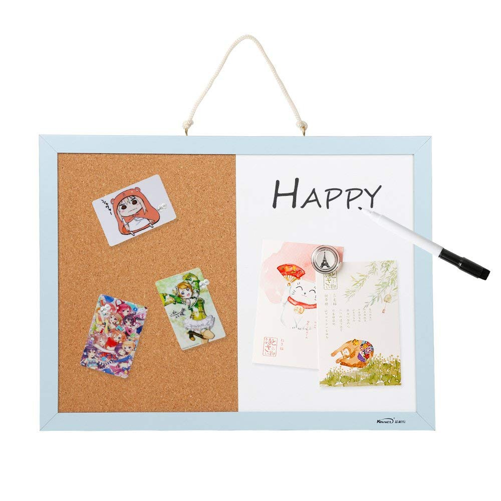 Combination Magnetic Whiteboard & Corkboard, Dry Erase Board & Cork Bulletin Board Combination for Home Office school 4