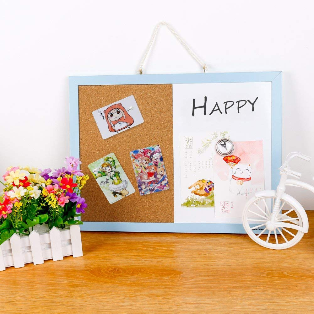 Combination Magnetic Whiteboard & Corkboard, Dry Erase Board & Cork Bulletin Board Combination for Home Office school 7