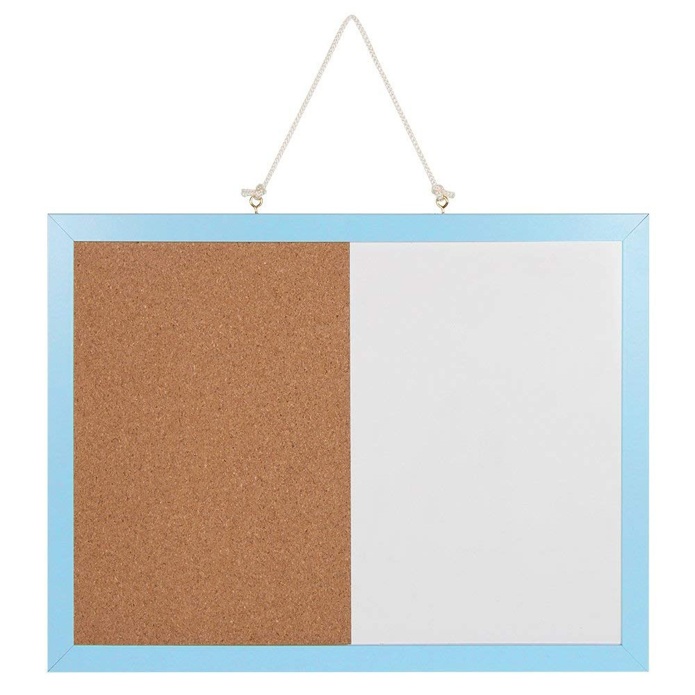 Combination Magnetic Whiteboard & Corkboard, Dry Erase Board & Cork Bulletin Board Combination for Home Office school 8