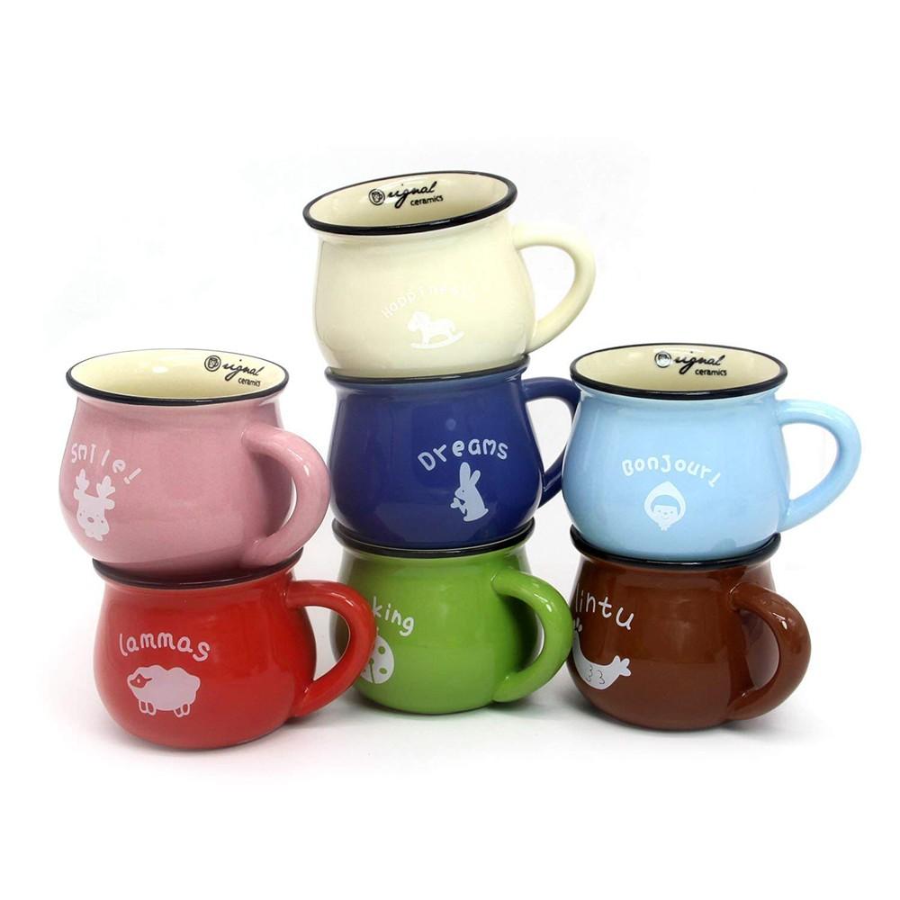 6 / 8 / 12 oz Ceramic Coffee Mug, Cute Lovely Cartoon Tea Mug, Milk Mug, Kids Cups 10