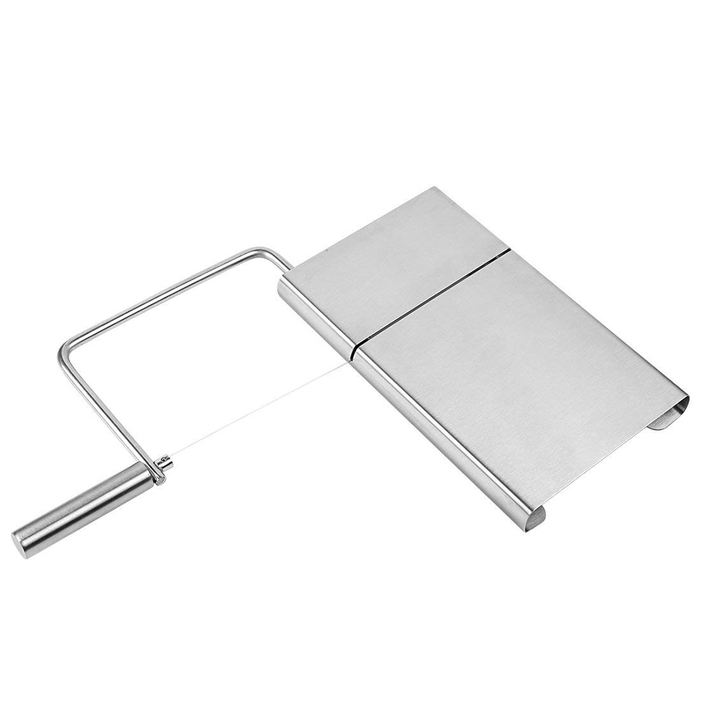 Stainless Steel Wire Butter Cutter Cheese Slicer With Serving Board - Kitchen Accessories 10