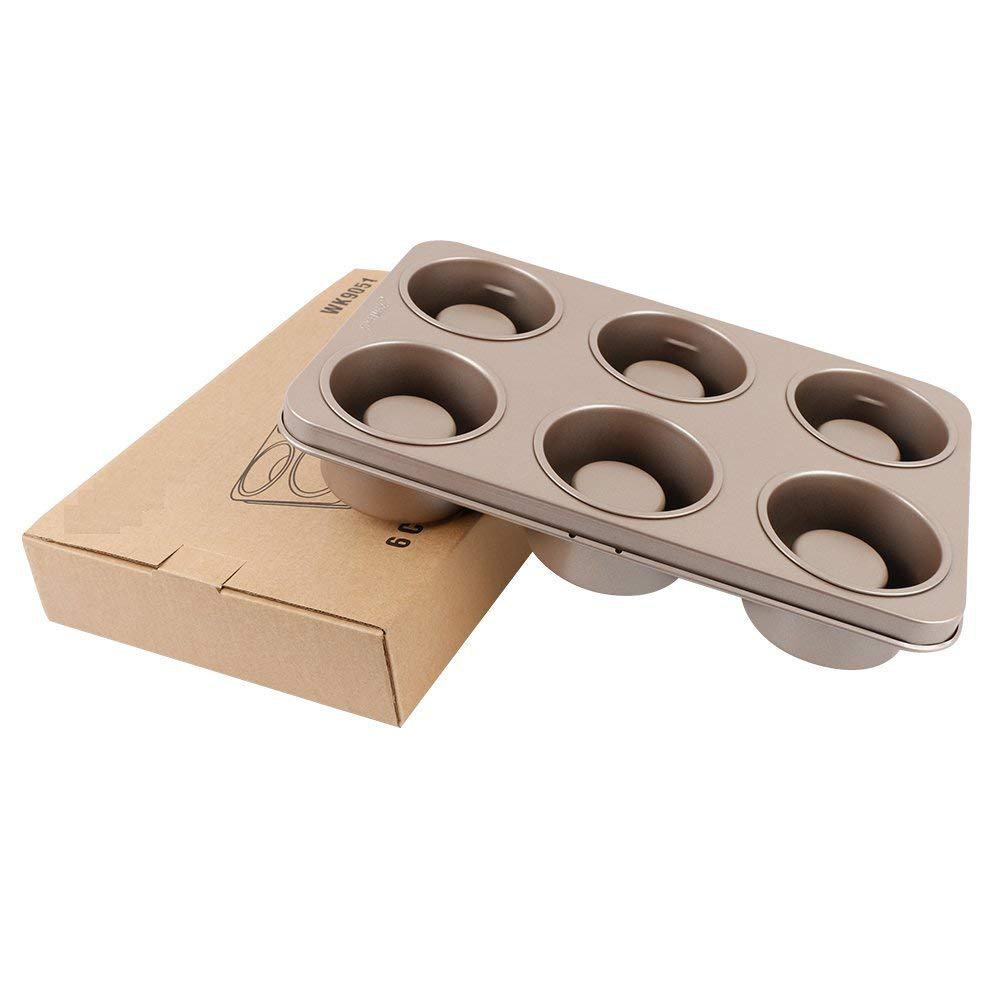 Professional Non-stick Bakeware 6-Cup Cake Mold, Carbon Steel Multi-fuctional Muffin Pan, Cupcake Pan, Baking Pan 0
