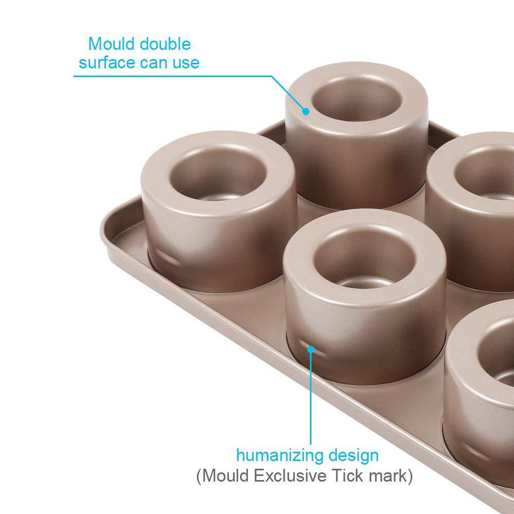 Professional Non-stick Bakeware 6-Cup Cake Mold, Carbon Steel Multi-fuctional Muffin Pan, Cupcake Pan, Baking Pan 1