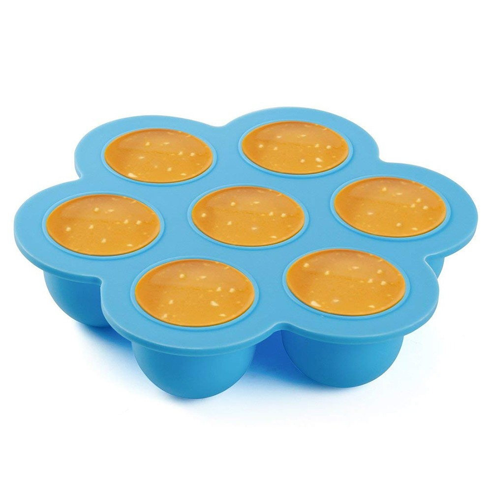 Multi-purpose Silicone Egg Bites Molds For Instant Pot 5,6,8 qt Pressure Cooker, Reusable Baby Food Storage Container And Freezer Tray With Lid 4
