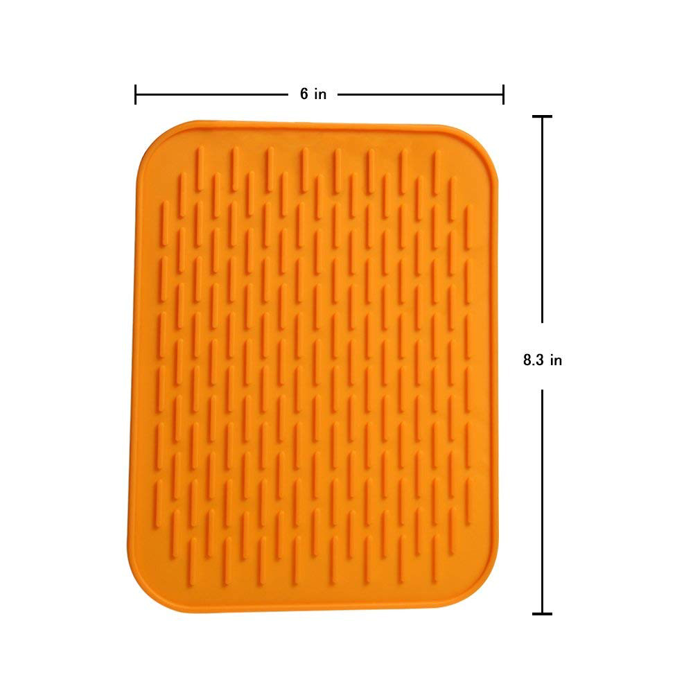 Heat Resistant Silicone Trivet Mat Pot Holder, Multi-Purpose Non-Slip Pot Mat Kitchen Tool, Pack of 3 5