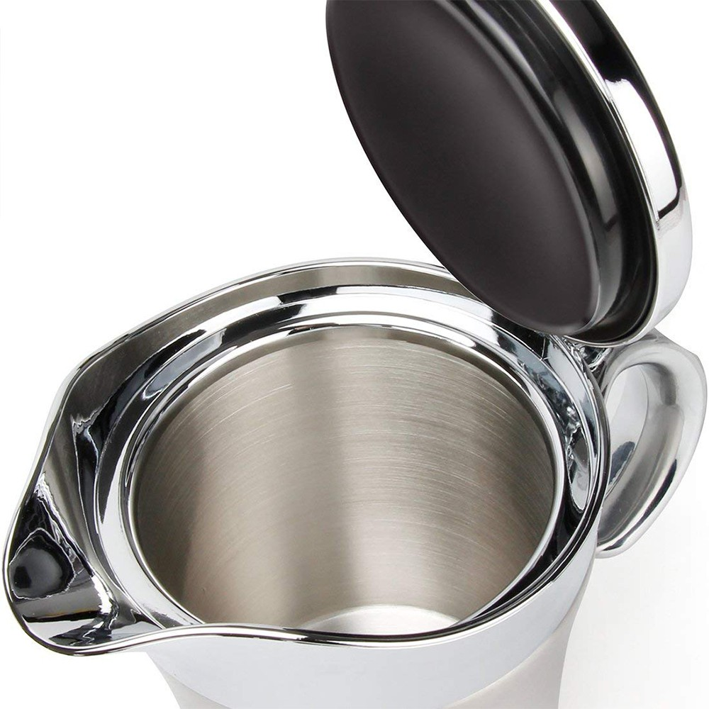 Stainless Steel Gravy Boat and Sauce Jug with Double Insulated Wall & Hinged Lid - 500 ml Large Capacity and Wide Spout For Ease Use 3
