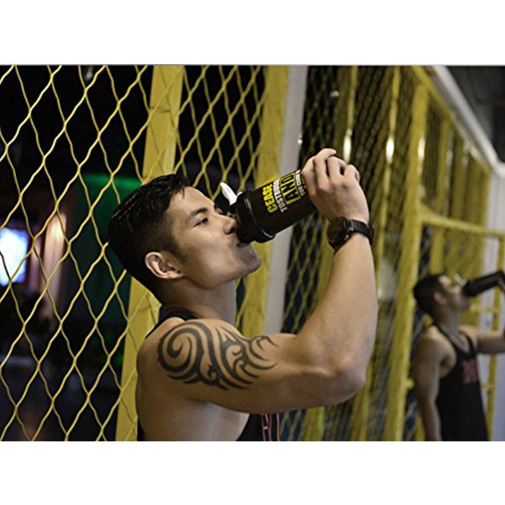 BPA-Free Protein Shaker Bottle, Leak proof Gym Bottle for Quick Easy Nutrition Supplement 22 oz, Black 2
