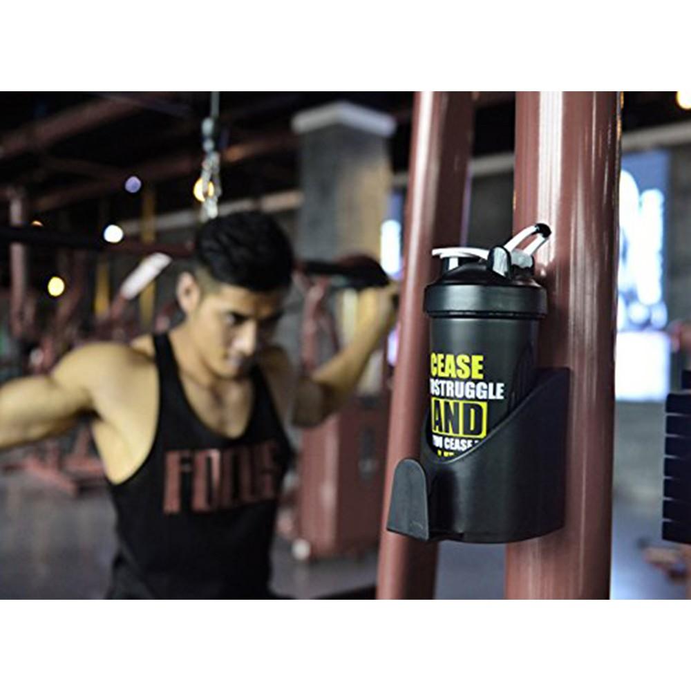 BPA-Free Protein Shaker Bottle, Leak proof Gym Bottle for Quick Easy Nutrition Supplement 22 oz, Black 6