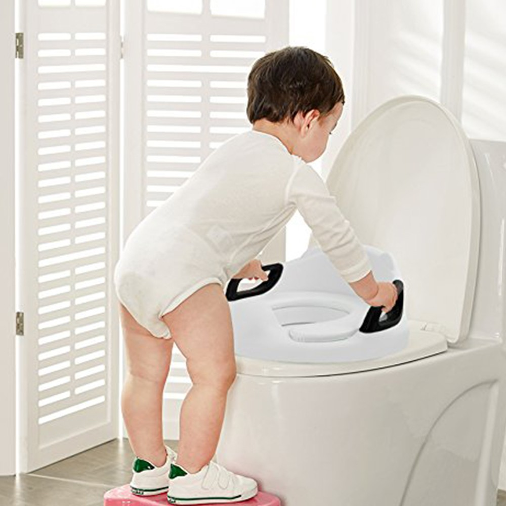 Portable Potty Training Seat for Boys and Girls, Non Slip Toilet Trainer with Splash Guard & Handles 6