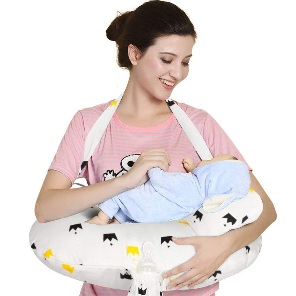 Washable Cotton Baby Feeding Pillow, Soft and Comfortable Baby Nursing Pillow for Mom and Baby 7