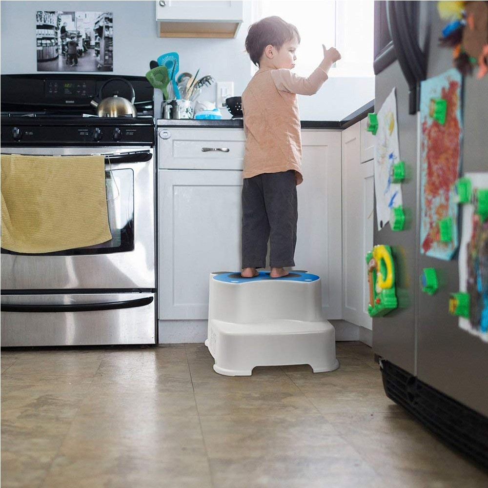 Non Slip Dual Height Two Step Stool for Kids, Portable Bathroom Potty Stool and Kitchen Step Stool - 2 Pack 4