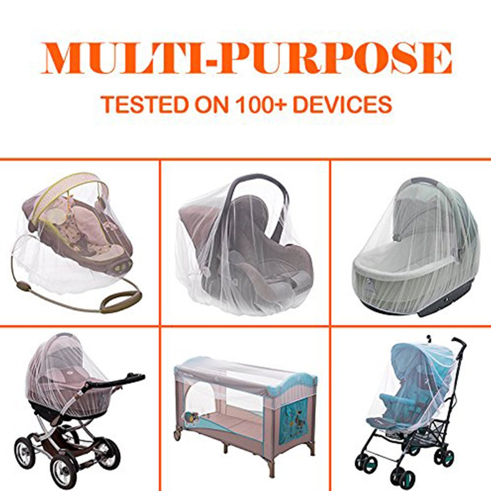 Portable & Durable Baby Mosquito Net, Breathable Baby Insect Netting for Stroller, Car Seat, Bassinet, Playpens 5