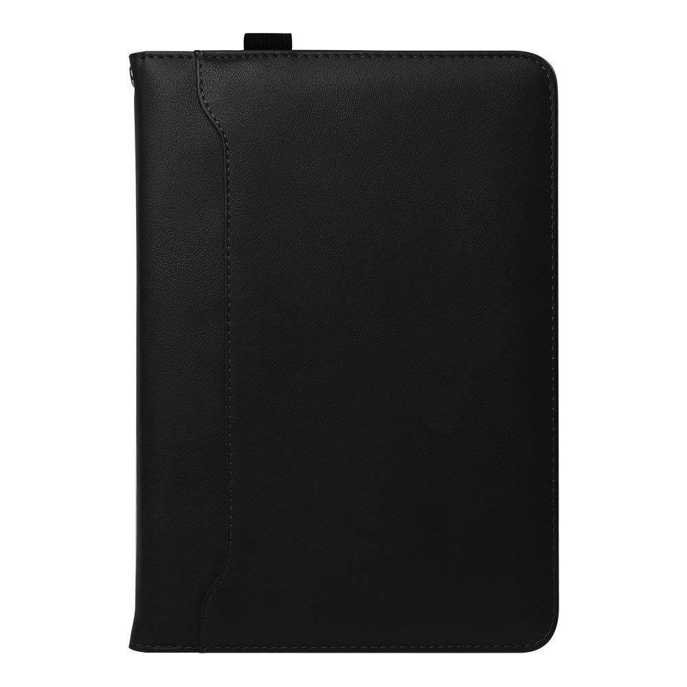 IPad Mini 4/3/2/1 Genuine Leather Case, Flip Folio [Kickstand Feature] Wallet Case Cover for Apple iPad Mini 1/Mini 2/Mini 3/Mini 4 7