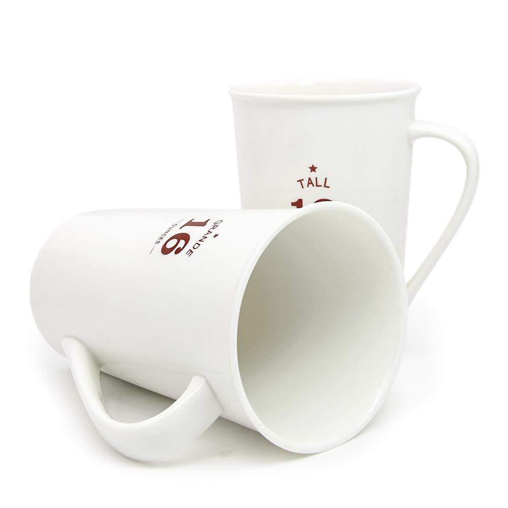White Ceramic Coffee Mugs,12 oz Minimalism Milk Mug for Home and Office 1