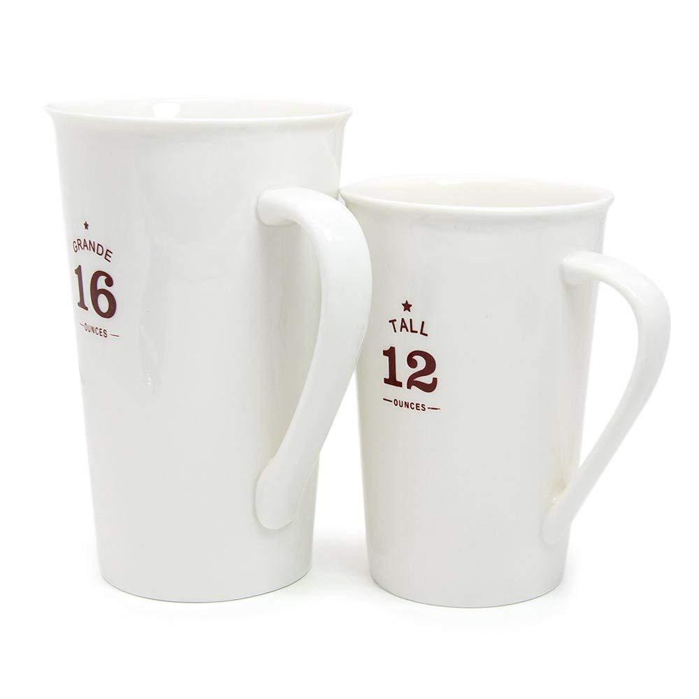 White Ceramic Coffee Mugs,12 oz Minimalism Milk Mug for Home and Office 2