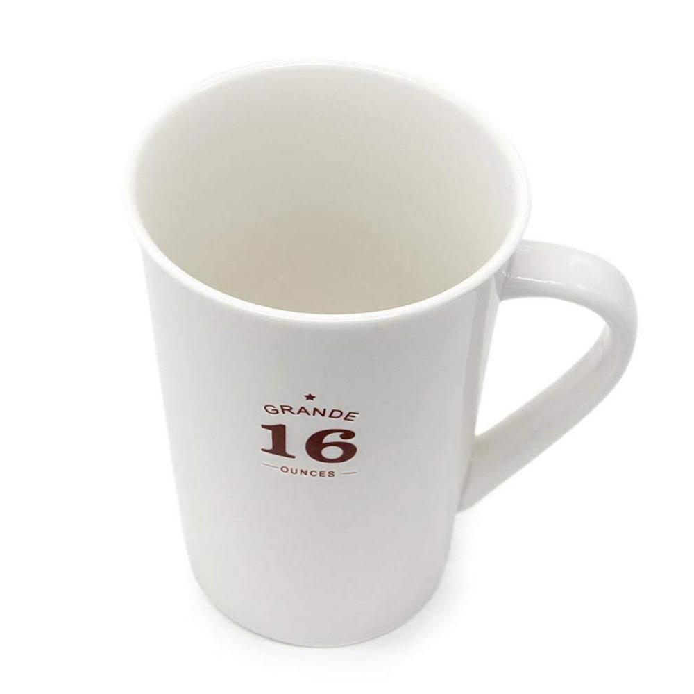 White Ceramic Coffee Mugs,12 oz Minimalism Milk Mug for Home and Office 3