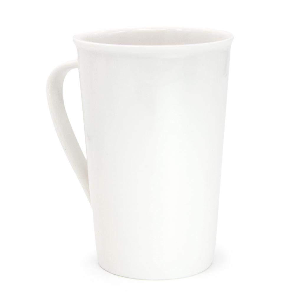 White Ceramic Coffee Mugs,12 oz Minimalism Milk Mug for Home and Office 5