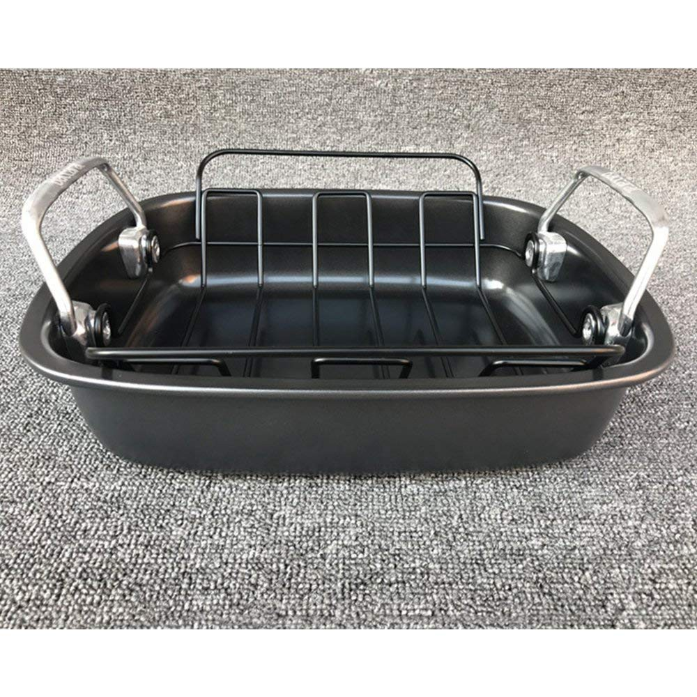 Carbon Steel Turkey Roasting Pan with Removable Non-Stick Rack 1