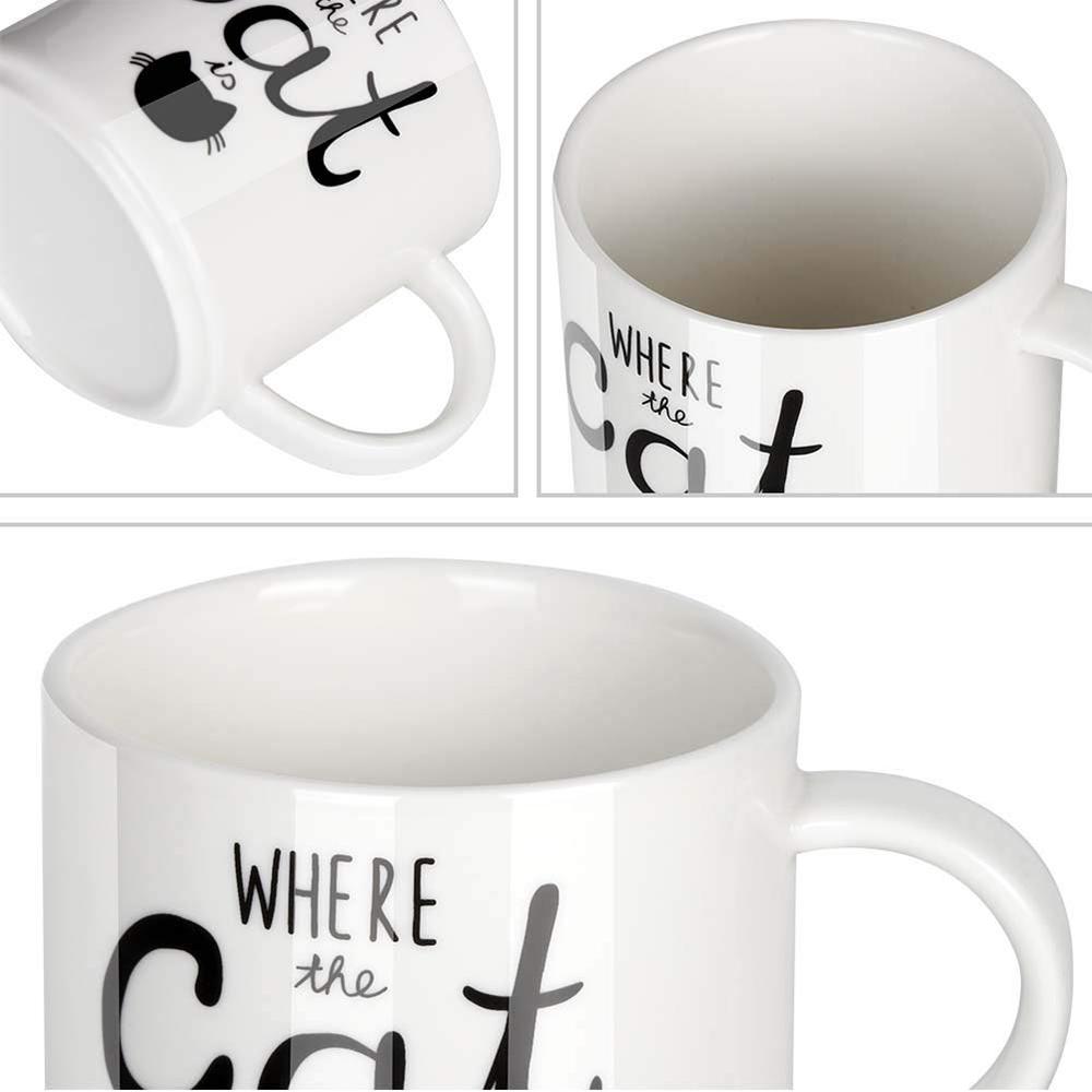 Funny Coffee Mug with Cat Print, Lovely Cartoon Ceramic Tea Mug, 10 oz 1