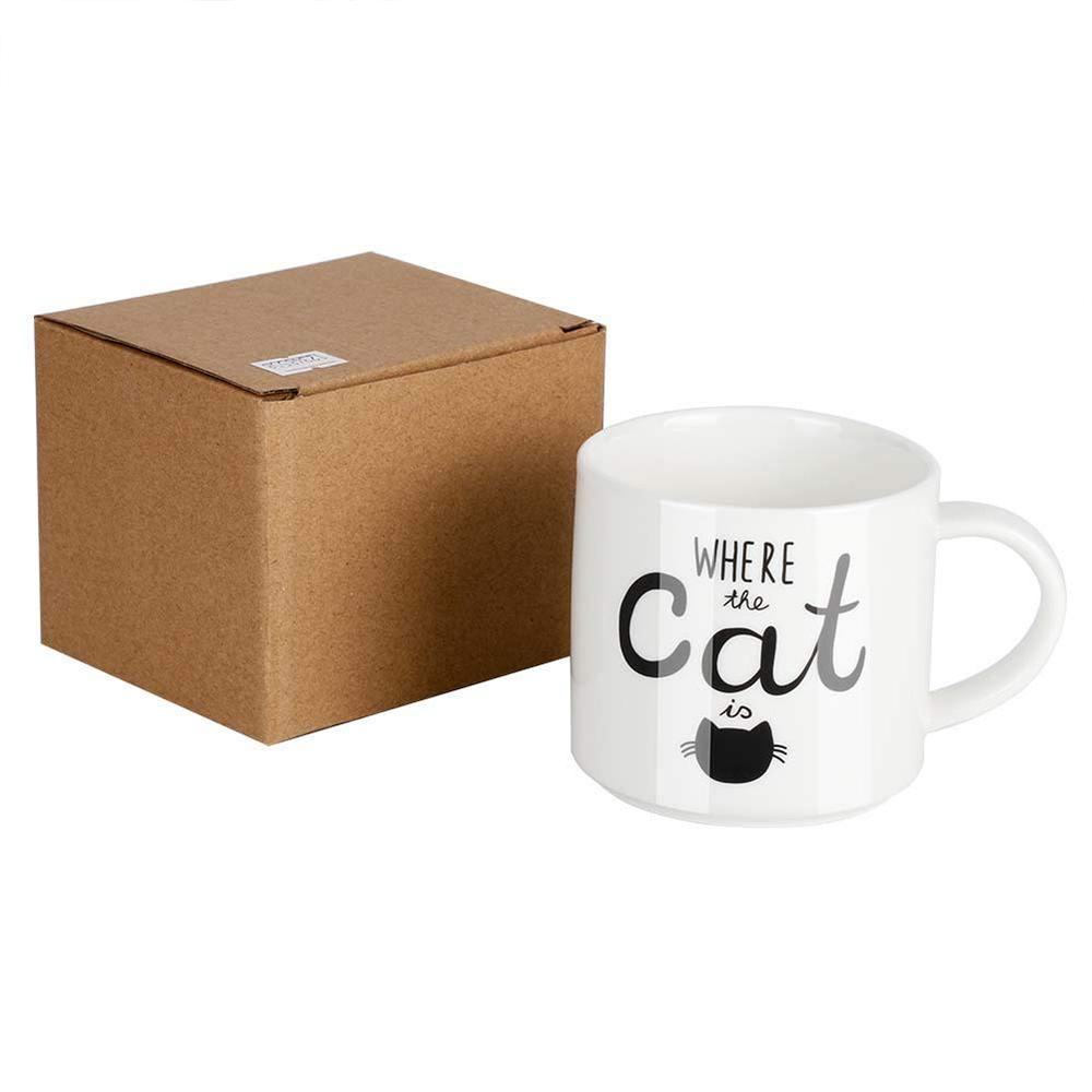Funny Coffee Mug with Cat Print, Lovely Cartoon Ceramic Tea Mug, 10 oz 3