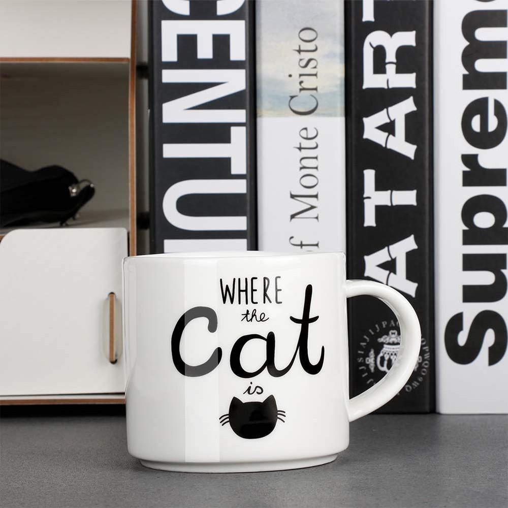 Funny Coffee Mug with Cat Print, Lovely Cartoon Ceramic Tea Mug, 10 oz 4