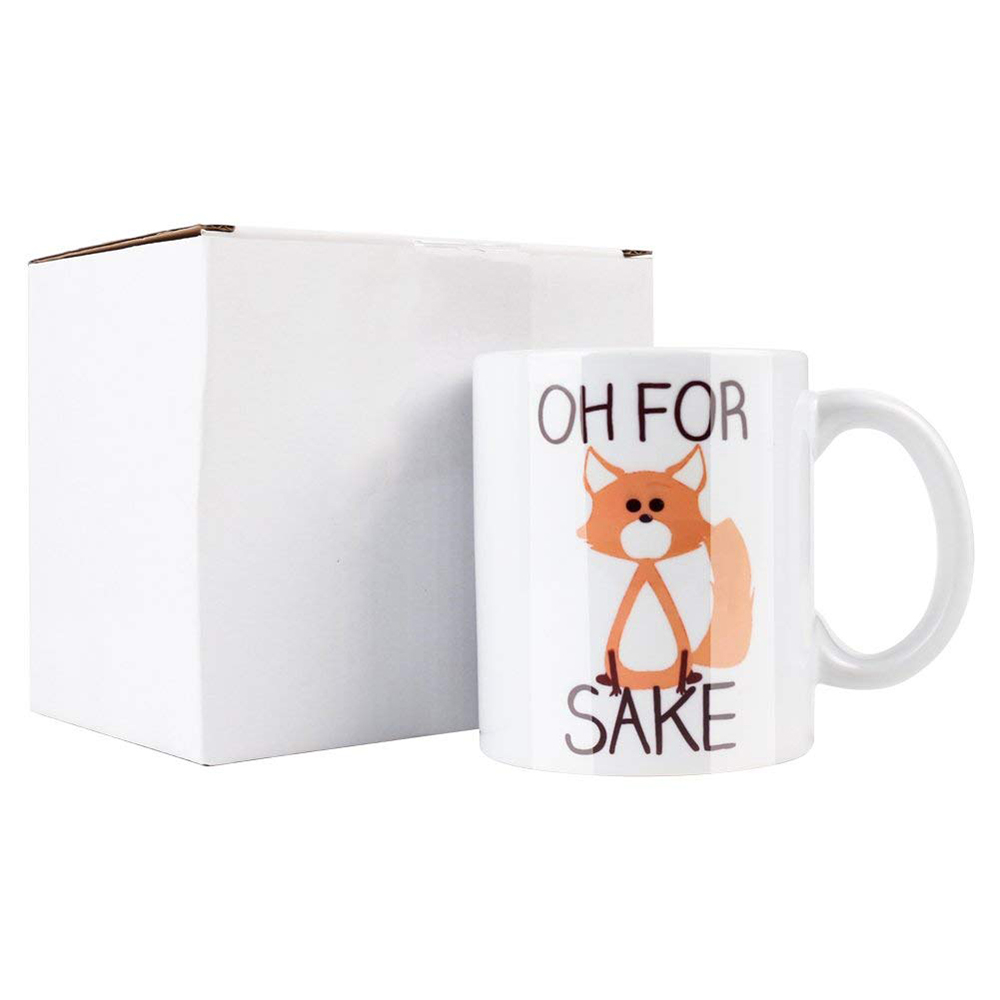 Cute Oh For Fox Sake Coffee Mug,11 Oz Durable Unique Milk Tea Mug 1