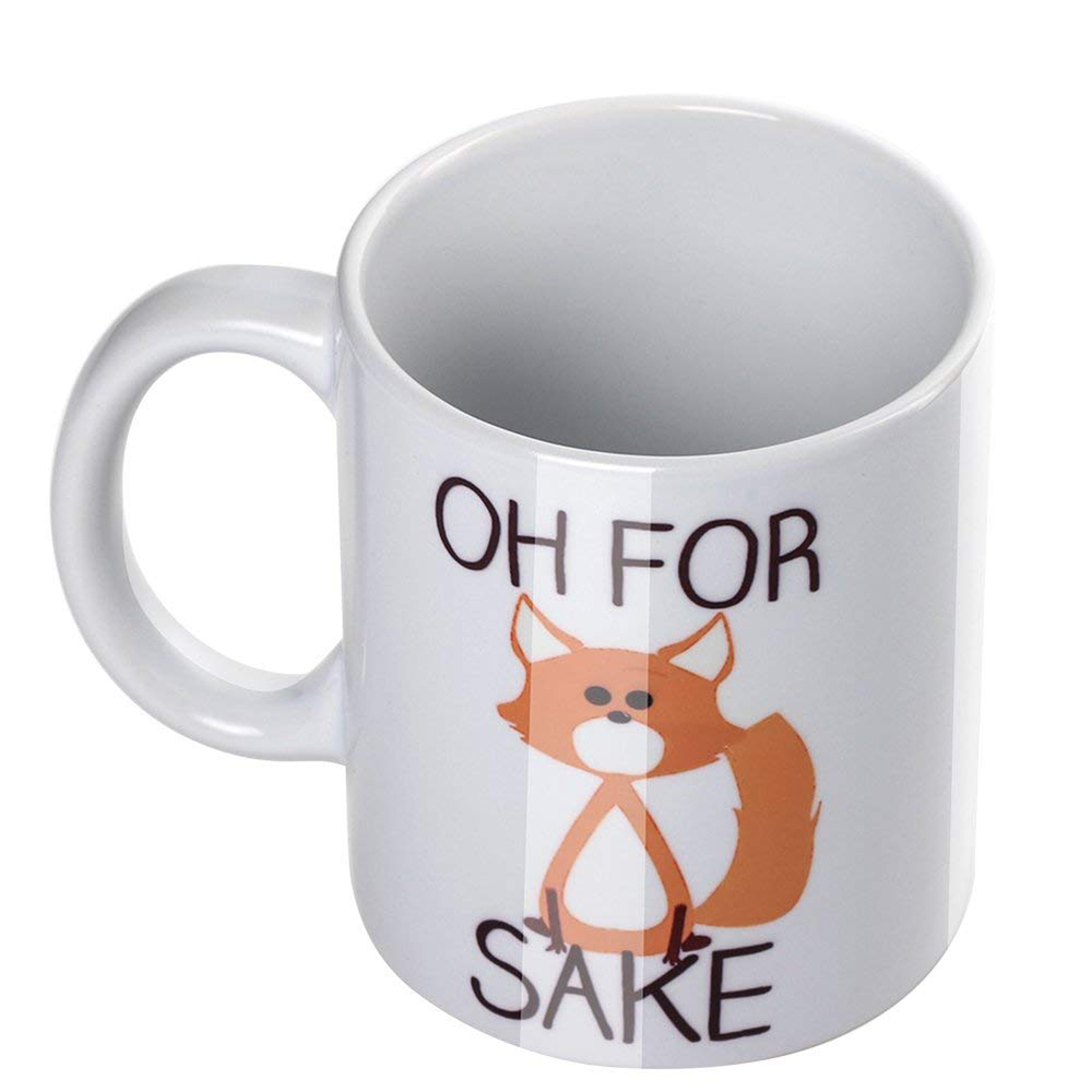 Cute Oh For Fox Sake Coffee Mug,11 Oz Durable Unique Milk Tea Mug 3