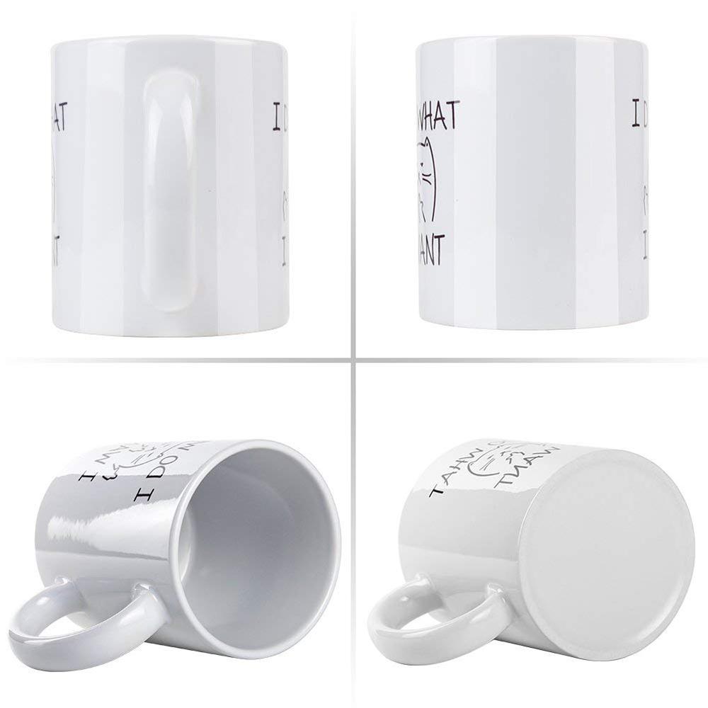 11 Oz Funny Coffee Mug, Cat Middle Finger Ceramic Mug/Cup 0