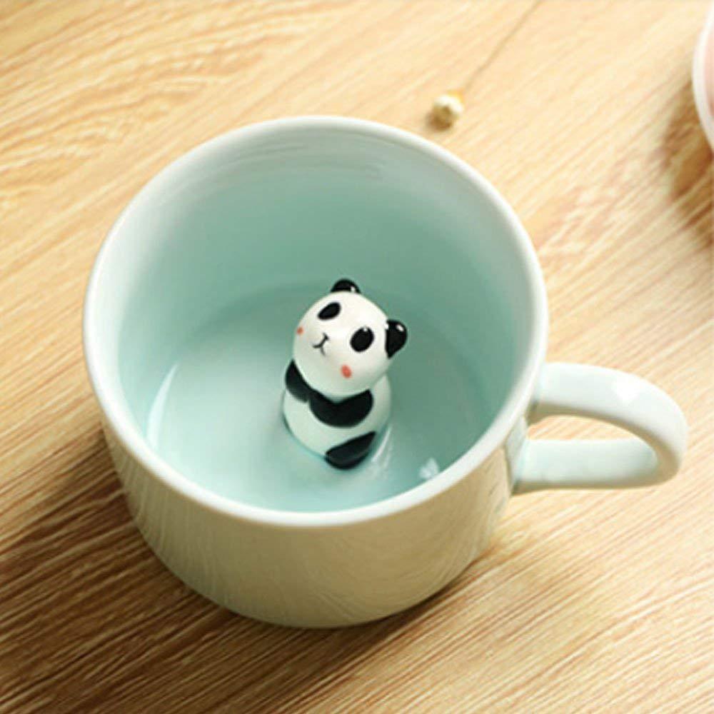 Animal Surprise Mug with Panda Inside, Funny 3D Ceramic Coffee Mug Tea Cup, 8 OZ 5