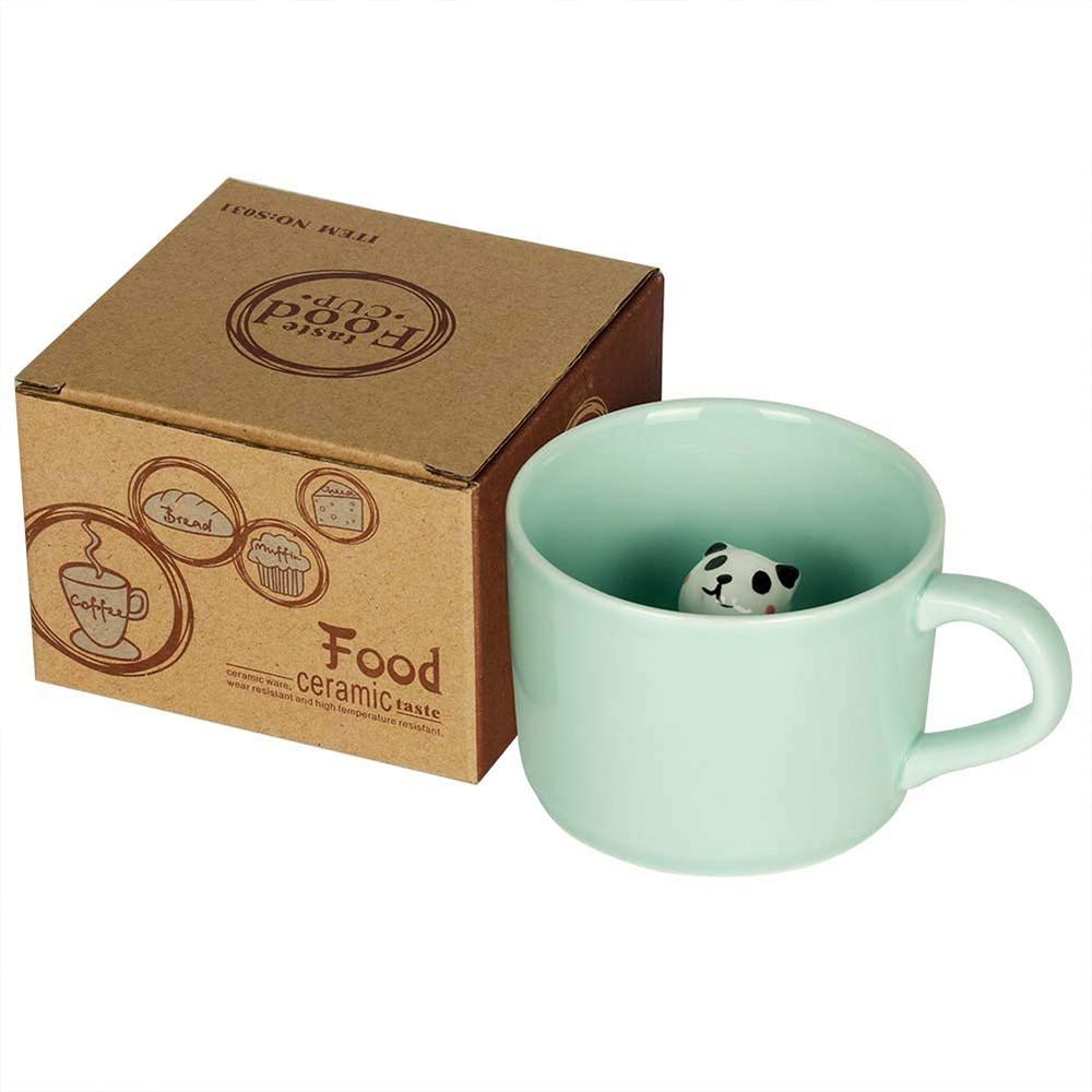 Animal Surprise Mug with Panda Inside, Funny 3D Ceramic Coffee Mug Tea Cup, 8 OZ 2