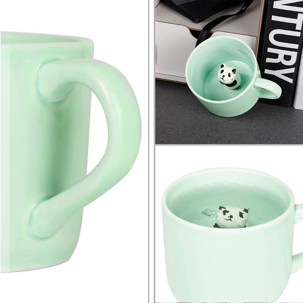 Animal Surprise Mug with Panda Inside, Funny 3D Ceramic Coffee Mug Tea Cup, 8 OZ 3