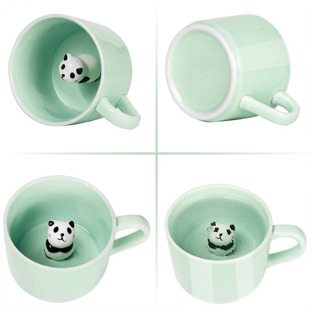 Animal Surprise Mug with Panda Inside, Funny 3D Ceramic Coffee Mug Tea Cup, 8 OZ 8