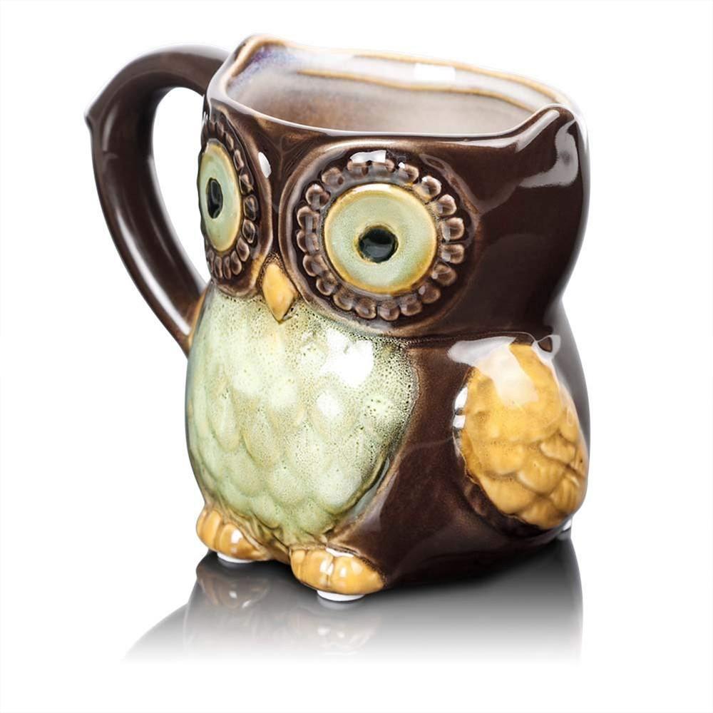 Funny Owl Ceramic Coffee Mug Tea Mugs,Cute Owl Morning Coffee Cup 12 oz 1