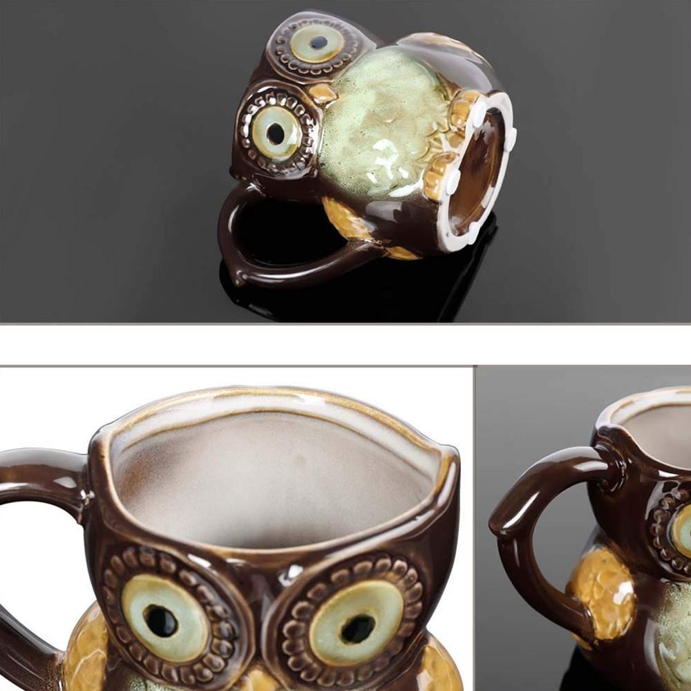 Funny Owl Ceramic Coffee Mug Tea Mugs,Cute Owl Morning Coffee Cup 12 oz 4