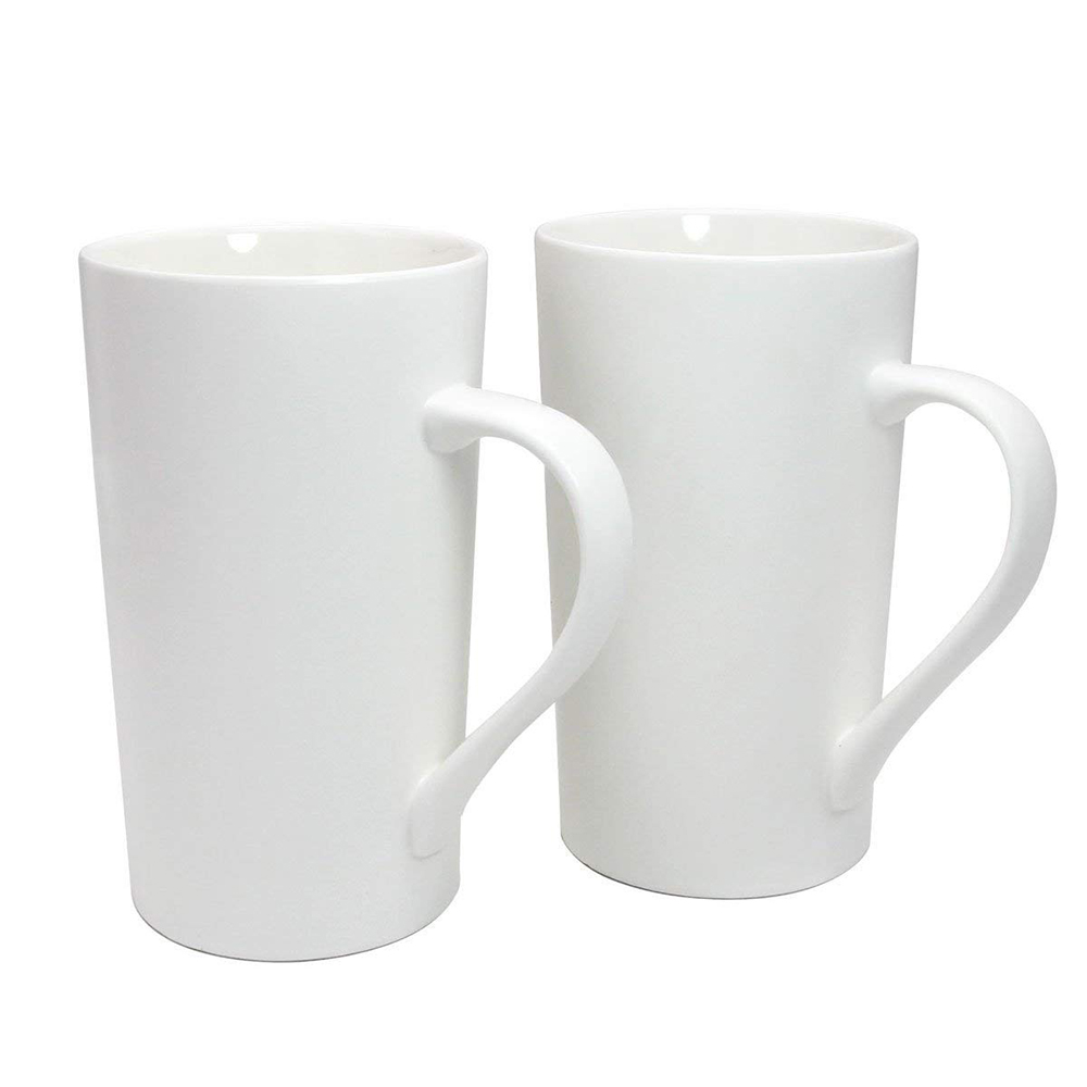 Large 20 oz Ceramic Coffee Mug,Set of 2 Durable Hot Cocoa & Tea Mug,White 0