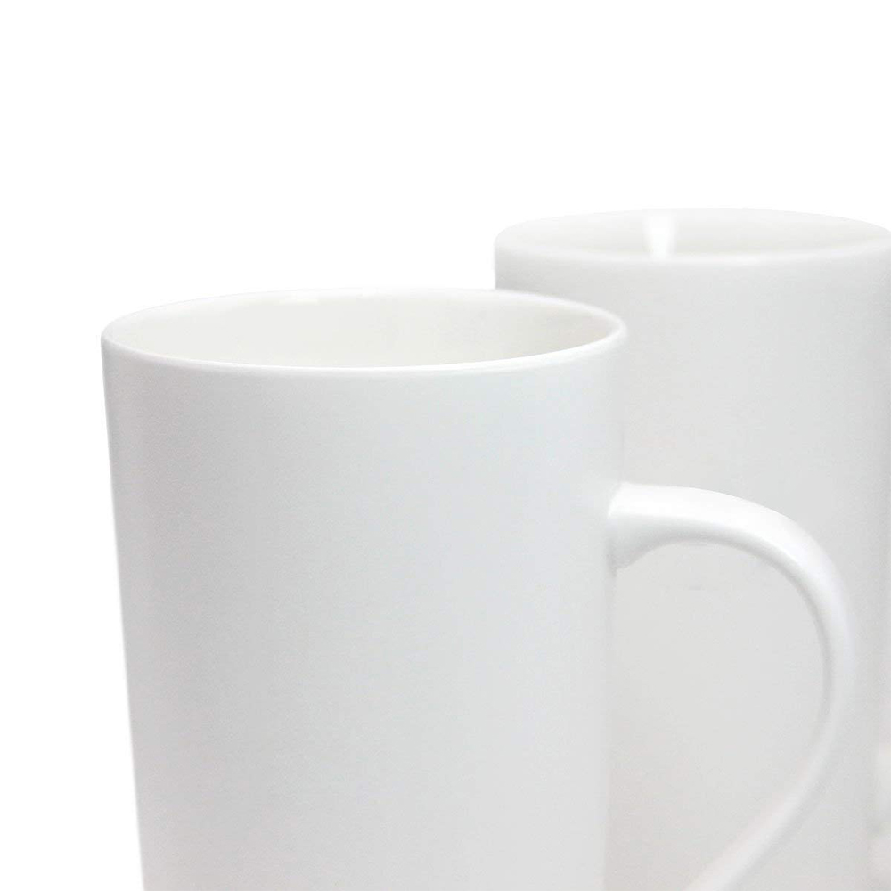Large 20 oz Ceramic Coffee Mug,Set of 2 Durable Hot Cocoa & Tea Mug,White 1