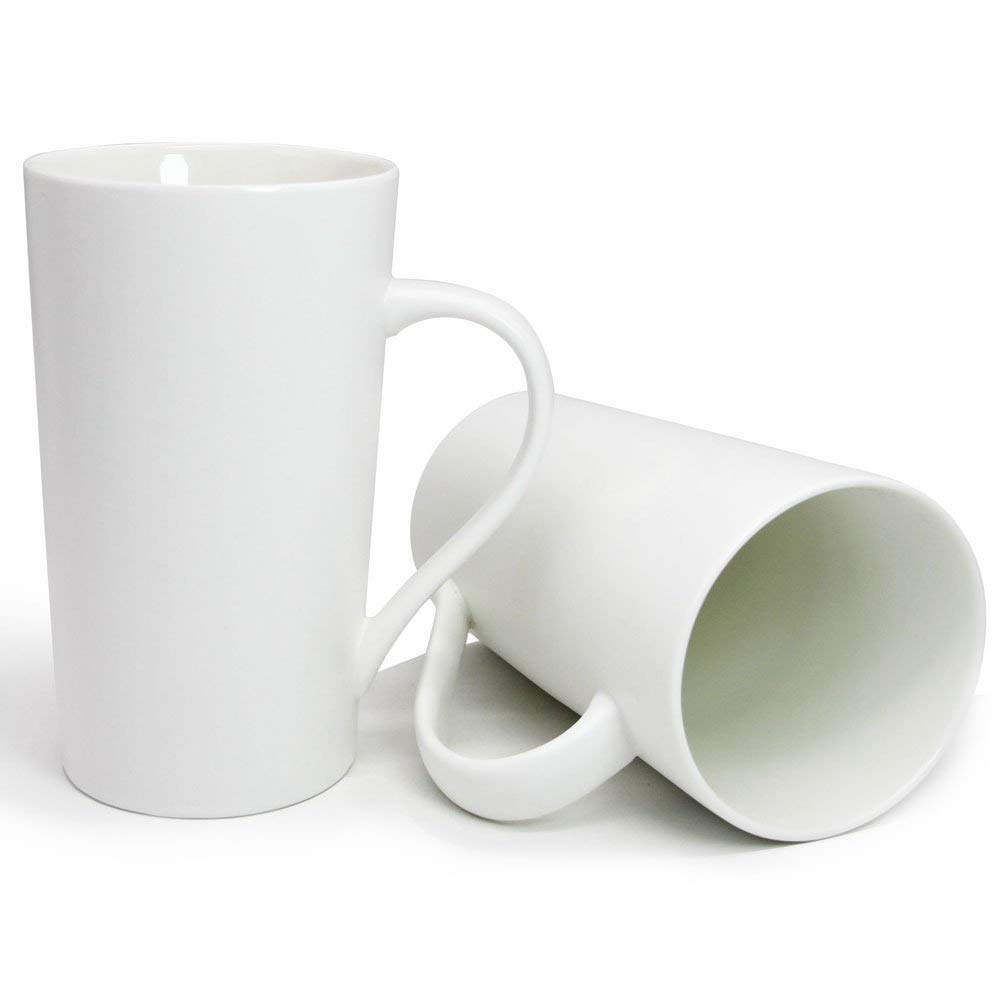 Large 20 oz Ceramic Coffee Mug,Set of 2 Durable Hot Cocoa & Tea Mug,White 3
